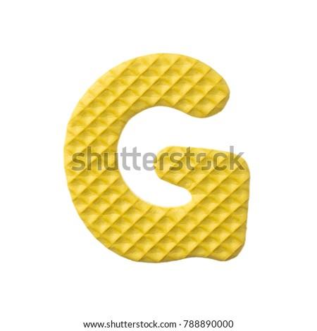 alphabet G made from EVA foam isolated on white background #788890000