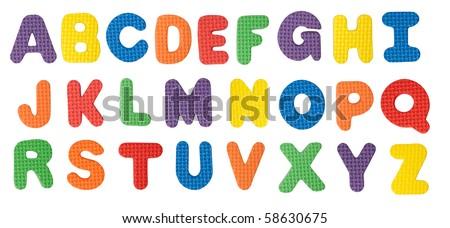 Alphabet isolated on white