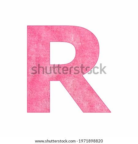 Alphabet Letter R - Pink plush texture Stock fotó ©