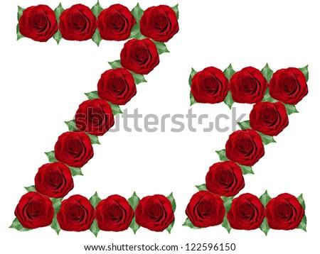 z alphabet in rose  Alphabet. Letter Z made