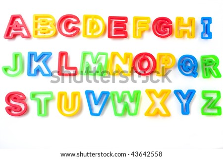 alphabet letters from childrens lstencil etter shapes