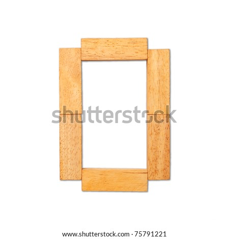 Alphabet - letters from wooden isolated on white background, Number 0