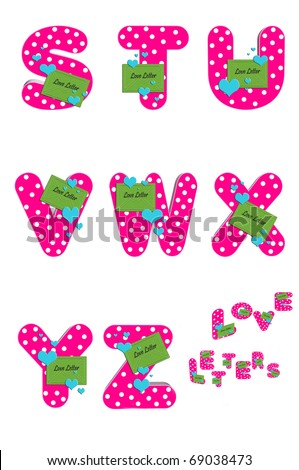 Z Alphabet Love Alphabet Love Letters S to Z is decorated with a bright green envelope ...