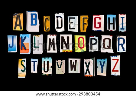 alphabet set created with...
