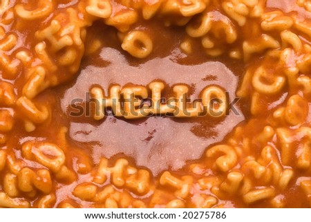 Alphabet Soup Message - Hello