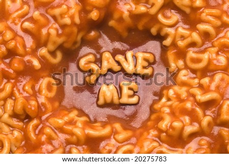 Alphabet Soup Message - Save Me