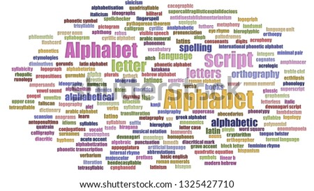 Alphabet Tagcloud Aligned Isolated