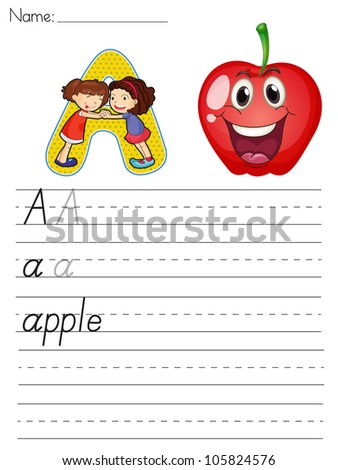 Alphabet worksheet of the letter A