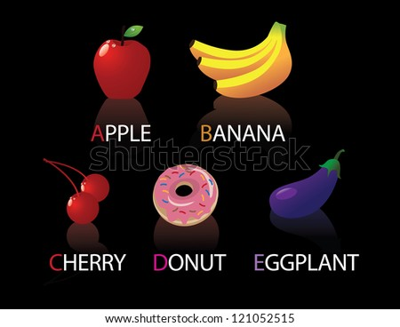 Alphabetical foods A through E.