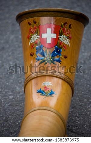 Alphorn, Zermatt, Valais, Switzerland, Europe