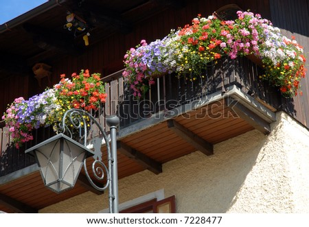 Alpine Balcony - stock photo
