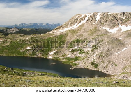 Alpine lake along the Beartooth Highway.
