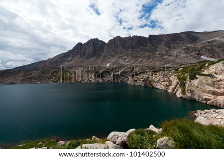 Alpine lake in the Colorado Rocky Mountains