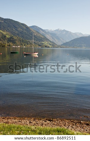 Alpine lake, Zell am see in Austria