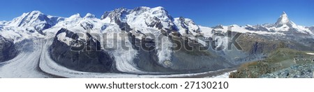 Alpine panorama - stock photo