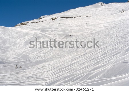 alpine skiing slopes - France