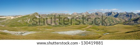 Alpine Tundra Panorama in the Rocky Mountains, Colorado.