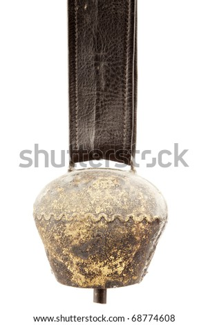 Alps cowbell on white background