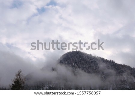 Alps. Mountain in the Alps. Forest in the Alps. The clouds. #1557758057