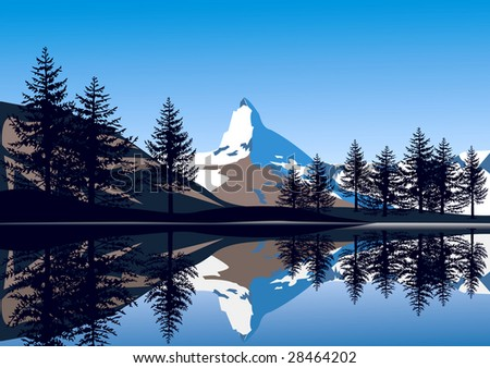 Alp Peak http://www.shutterstock.com/pic-28464202/stock-photo-alps-view-peak-matterhorn.html