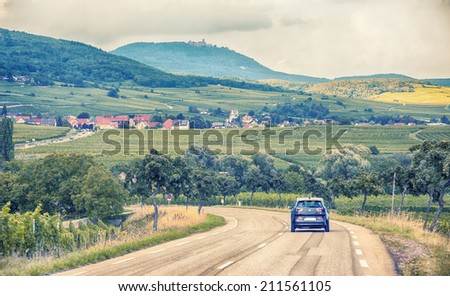 Alsace wine country side