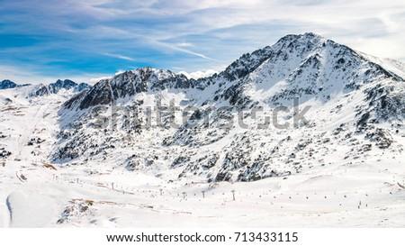 Alt del Cubil (2620m) and Pic Baix del Cubil, two Pyrenees peaks in Grandvalira ski area, Andorra