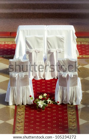 Altar before the wedding ceremony