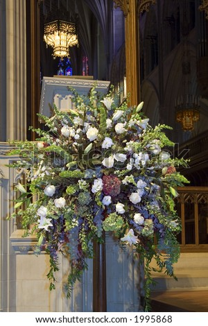 stock photo Altar Flowers altar flowers wedding