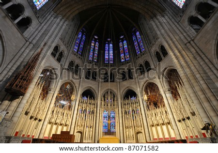 Altar of Riverside Church of New York City, USA
