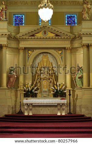 Altar of Saint Louis cathedral in New Orleans - stock photo