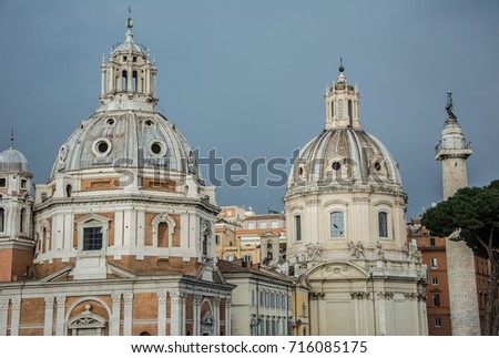 Altar of the Fatherland National Monument to Victor Emmanuel II) in the center of Rome. #716085175