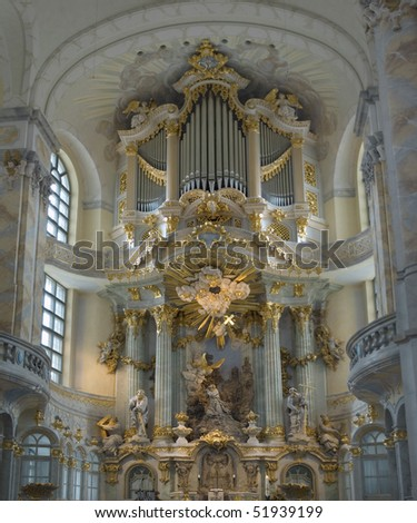Altar of the woman church Dresden