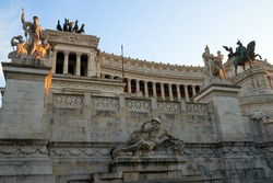 Altare della Patria, is a monument built in honour of Victor Emmanuel, first king of a unified Italy, located in Rome, Italy. It occupies a site between Piazza Venezia and Capitoline Hill.
