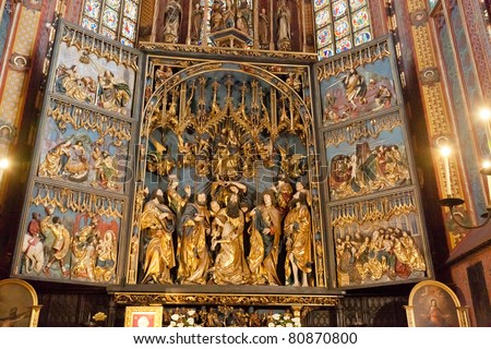 Altarpiece of Veit Stoss , is the largest Gothic altarpiece in the World