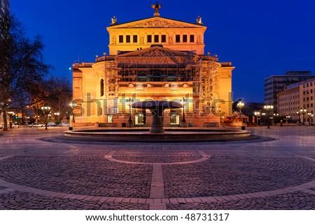 Alte Oper, Frankfurt. Old opera house.