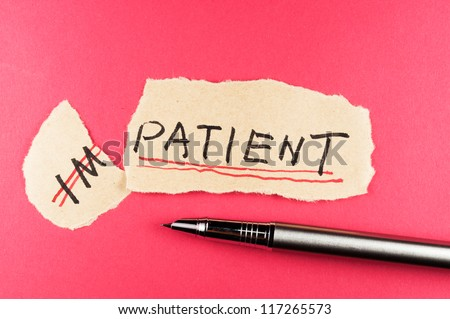 Alter impatient word and changing it  to patient
