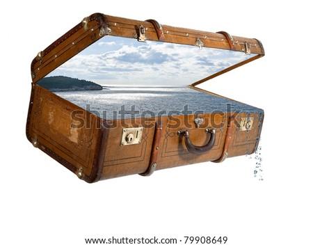 alter koffer urlaub reiselust stock photo 79908649 shutterstock. Black Bedroom Furniture Sets. Home Design Ideas