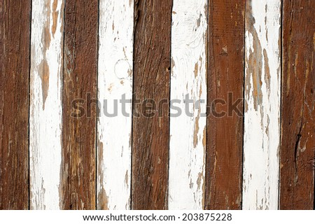 alternating white and brown zebra pattern boards