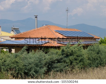 Alternative Energy - Photovoltaic on rooftop