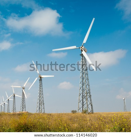 Alternative energy source, wind farm