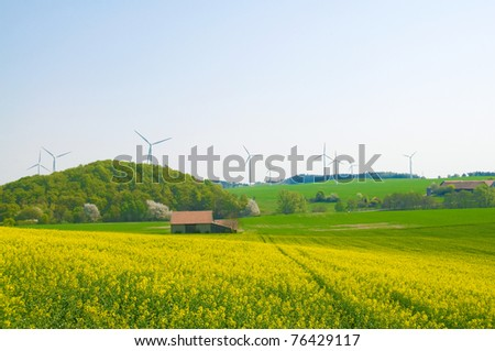 Alternative energy sources - windmills, and canola oil.