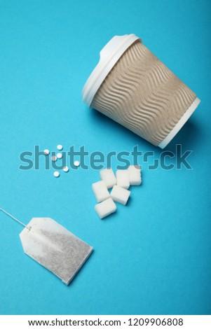 Alternative sweeteners, sugar substitute. Healthy food.