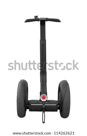 alternative transport vehicle isolated on a white