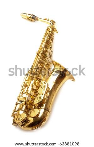 alto sax - stock photo