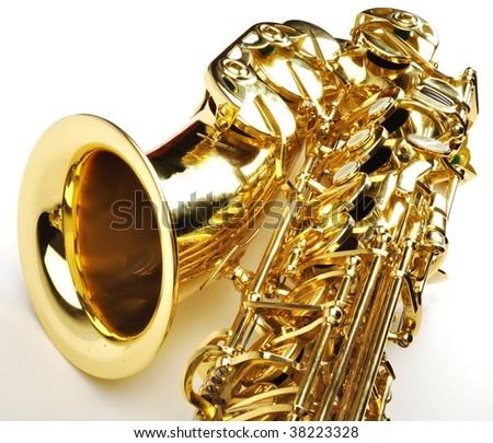 Alto saxophone - stock photo