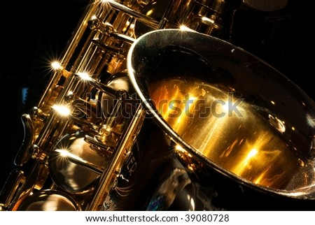 Alto saxophone with little dust for backgound