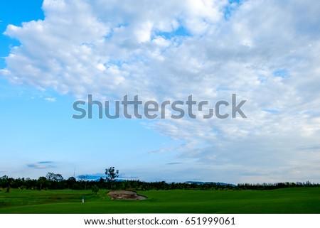Altocumulus cloud on blue blue sky for background backdrop #651999061