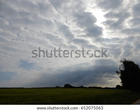 Altocumulus - clouds in the morning #652075063