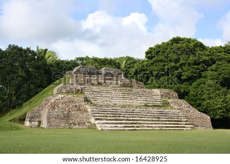 Altun Ha Mayan Ruins in Belize - stock photo