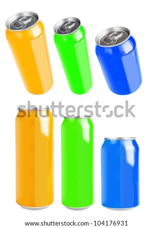 aluminium can isolated on white